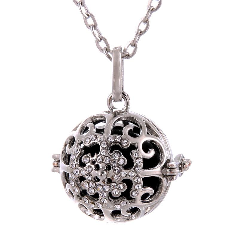 Uma variedade de estilos bola de broca redonda pingente aromaterapia medalhão difusor colar apto aromaterapia bola jóias finas presente da menina