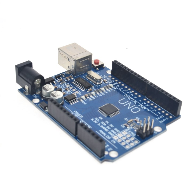 high quality One set UNO R3 (CH340G) MEGA328P for Arduino UNO R3 + USB CABLE ATMEGA328P-AU Development board 4