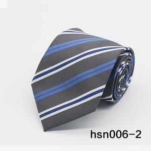 Image 3 - Gravatá Nam Sọc tie 8 cm skinny Buộc các Business Wedding Party polyester Cà Ra Vát Ties For Men