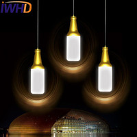 IWHD Creative Acrylic Wine Bottle Droplight Modern LED Pendant Light Fixtures For Dining Room Hanging Lamp