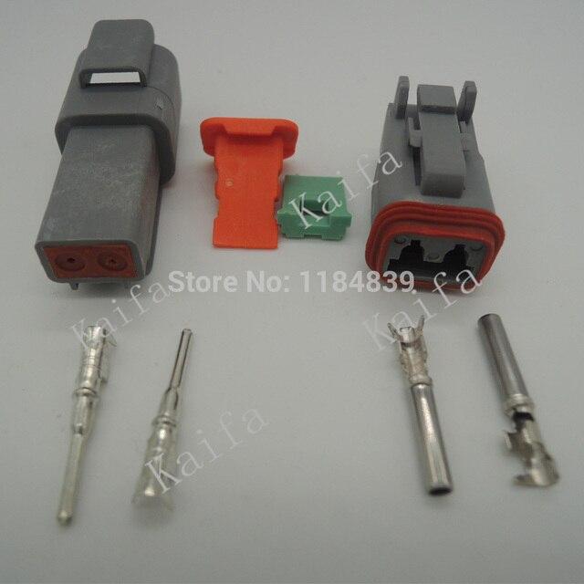 5 sets Kit Deutsch DT 2/3/4/6/8/12 Pin Waterproof Electrical Wire ...