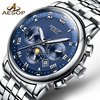 AESOP Luxury Watch Men Automatic Mechanical Wrist Moon Phase Wristwatch Stainless Steel Male Clock Relogio Masculino