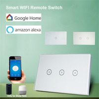 US Standard 10A Gang Smart WIFI Switch 1 2 3 Gang Touch Panel Wireless Remote Wifi