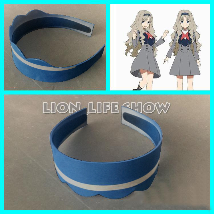 Anime DARLING in the FRANXX CODE 556 KOKORO Headband Hairpin White Headwear Blue  Cosplay prop