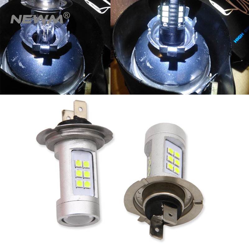 H7 100W COB LED Headlight Bulbs Pair 8000 Lumens Canbus For Skoda Rapid 2012-On