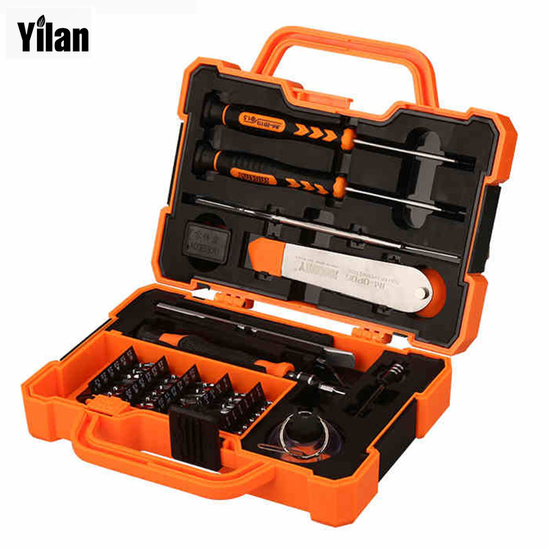 45 in 1 screwdriver set 201 133 57mm hand tools box for repair mobile phone or notebook. Black Bedroom Furniture Sets. Home Design Ideas