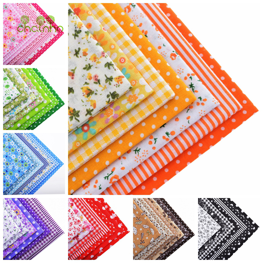 56pcs lot thin plain cotton fabric patchwork for diy for Sewing fabric