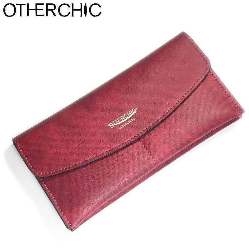 OTHERCHIC Women Long Wallet Clutch Wallet Purse Card Slots Zipper Pouch Money Clip Bag Women Purse Wallets Female Purses 6N06-02