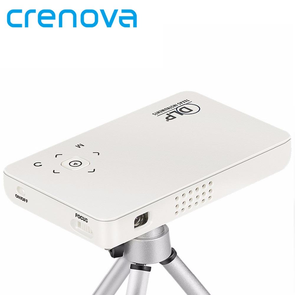 Crenova GP1SUP Mini Pocket DLP Projector 500 Lumens Set in Android WIFI Bluetooth Home Theater for