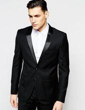 2017 Handsome Casual Man Suit Black Groom Tuxedos Custom Made Mens Wedding Suit Groomsman Bridegroom Wear