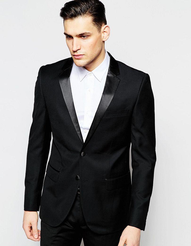 2017 Handsome Casual Man font b Suit b font Black Groom Tuxedos font b Custom b