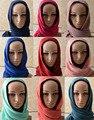 Za 2016, algodón llano bufanda, hijab Llano, Ripples patrón de color sólido, hijab Musulmán, cape, chales y bufandas, bufanda, mantones wraps