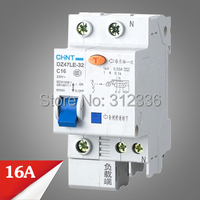 Free Shipping Two years Warranty DZ47LE 32 C16 1P+N 16A 1 pole ELCB RCD earth leakage circuit breaker residual current