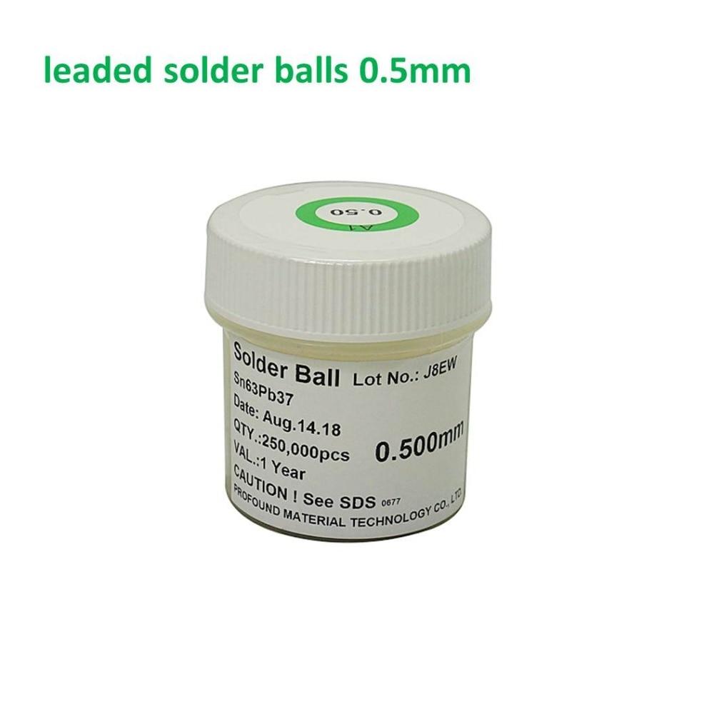 1 Bottles 0.5mm 250K  PMTC BGA Solder Balls Leaded For Reballing Rework SGS Sn63 Pb37