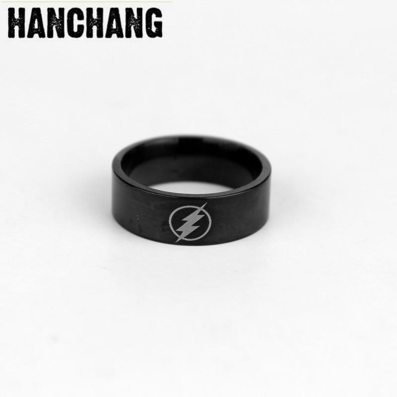 2017 Superhero Flash Ring Vintage Stainless Steel Men Ring For Wedding Engagement Ring