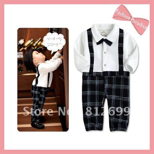 Hk post air mail baby romper of western style suit for boys gentleman style baby clothes - Baby gear for small spaces style ...