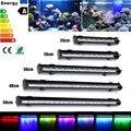 Waterproof RGB LED Light Bulb Tubes 20/28/38/48/58cm High Lumen Aquarium Fish Tank Lamp Lighting 1/1.5/2/2.5/3W 220V US EU Plug