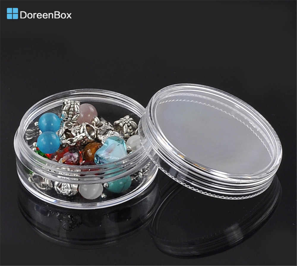 "Doreen Box hot-  8PCs Clear Beads Display Storage Case Boxes 5x5x2.1cm(2""x2""x7/8"") (B22376)"