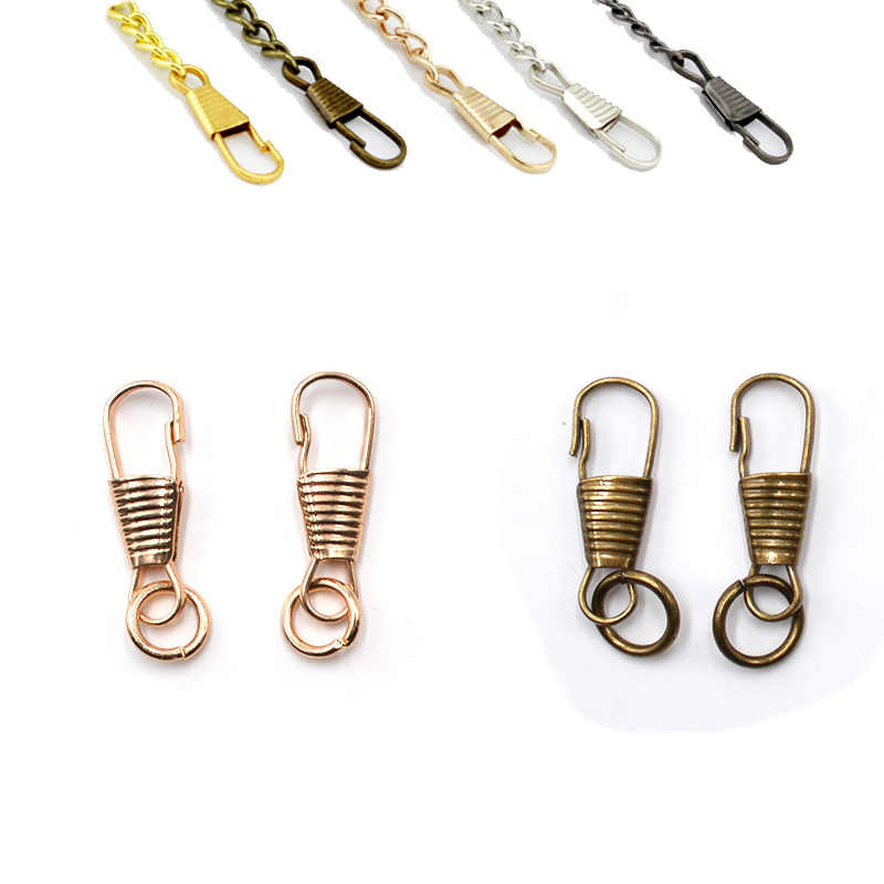 6d34cc69351a ... 20pcs Metal Snap Clips Hooks Loaded Clasp Keyring Buckle Hardware  Accessories for Bag Chain Metal Small ...