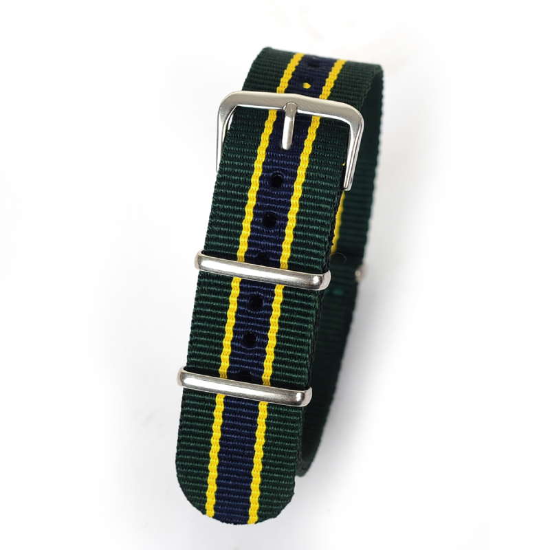 Retail 20 22mm green yellow dark blue Sport nato fabric watch band straps accessories Bands nylon watchband steel Buckle belt 1pcs canvas fabric nylon watch straps bands black army green brown gray striped replace wristwatch bracelet width 20mm