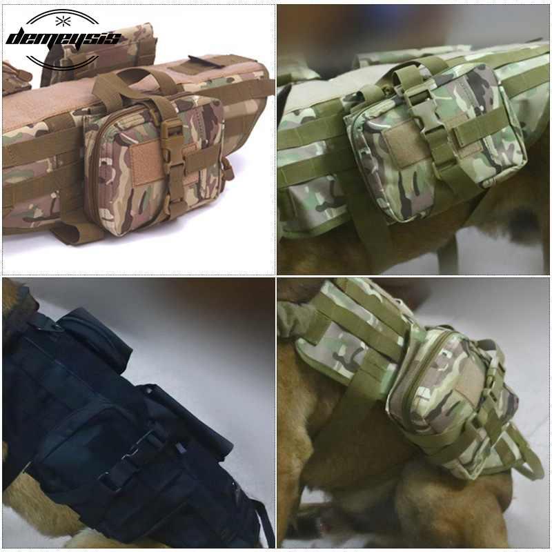 متعددة حدبة التكتيكية العسكرية صدرة الحيوان الأليف الصيد الكلب التدريب رخوة سترة تسخير القتالية الكلب سترة