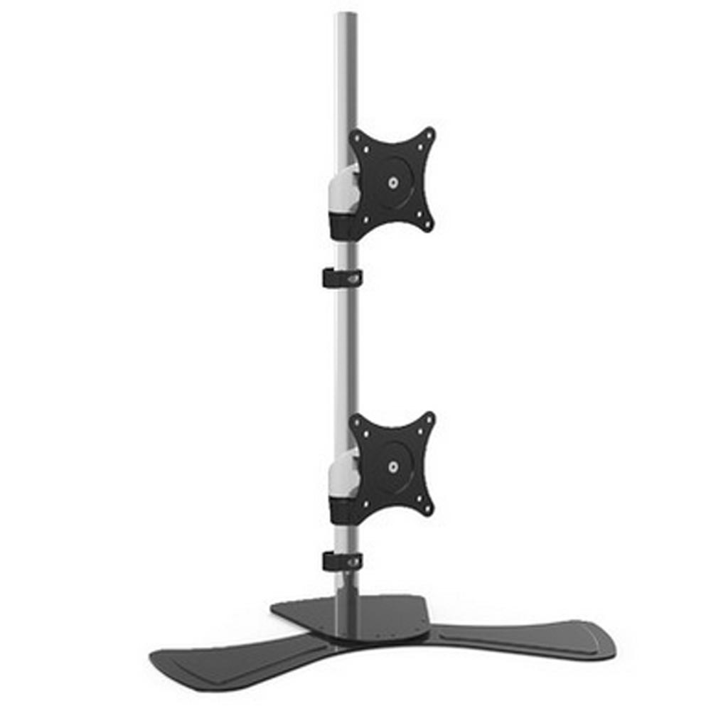 HONGHUA 15-27 Up and Down Dual Screen Monitor Holder LCD TV Mount Desktop Stand Base Arm ...