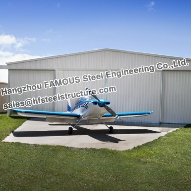 Wide Span Steel Structure Aircraft Hangar Buildings Covered Roof Panel