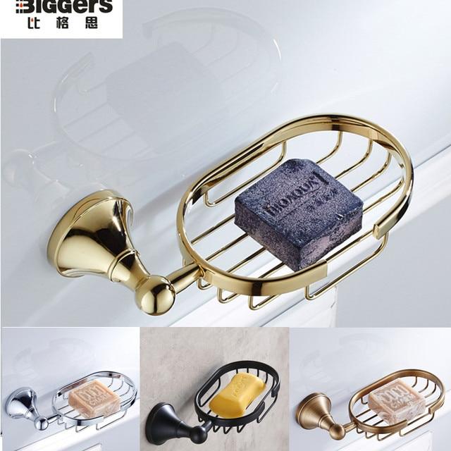 free black bronze bathroom accessories brass soap dish holder gold plated bathroom soap