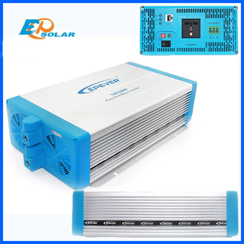 EPever SHI series pure sine wave inverter 2000W DC 24v 48v to AC 220V high frequency off grid tie inverter SHI2000-22 SHI2000-42 48v 2000w off grid inverter pure sine wave epsolar shi2000 42 with optional energy saving mode for household appliances new