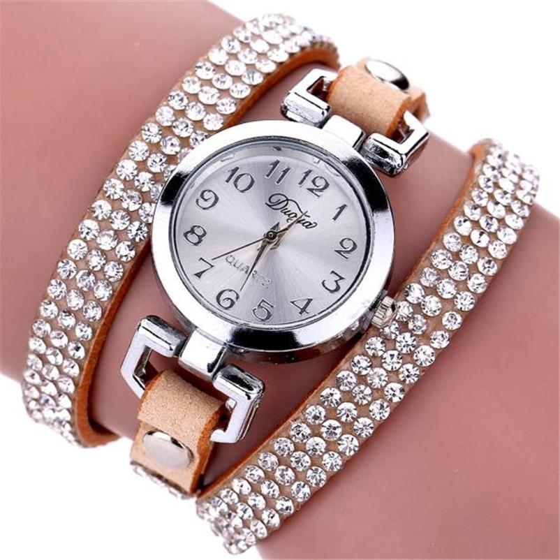 High Quality women fashion casual watch luxury dress ladies Leather Band Analog Quartz Wrist Watch clock Montre femme O10 (8)