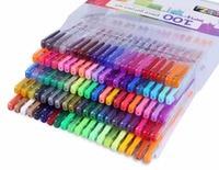 LolliZ 70PCS/100PCS Color Gel Pens Cute Pen Metallic Pastel Neon Glitter Sketch Drawing Color Pen School Office Stationery Pens