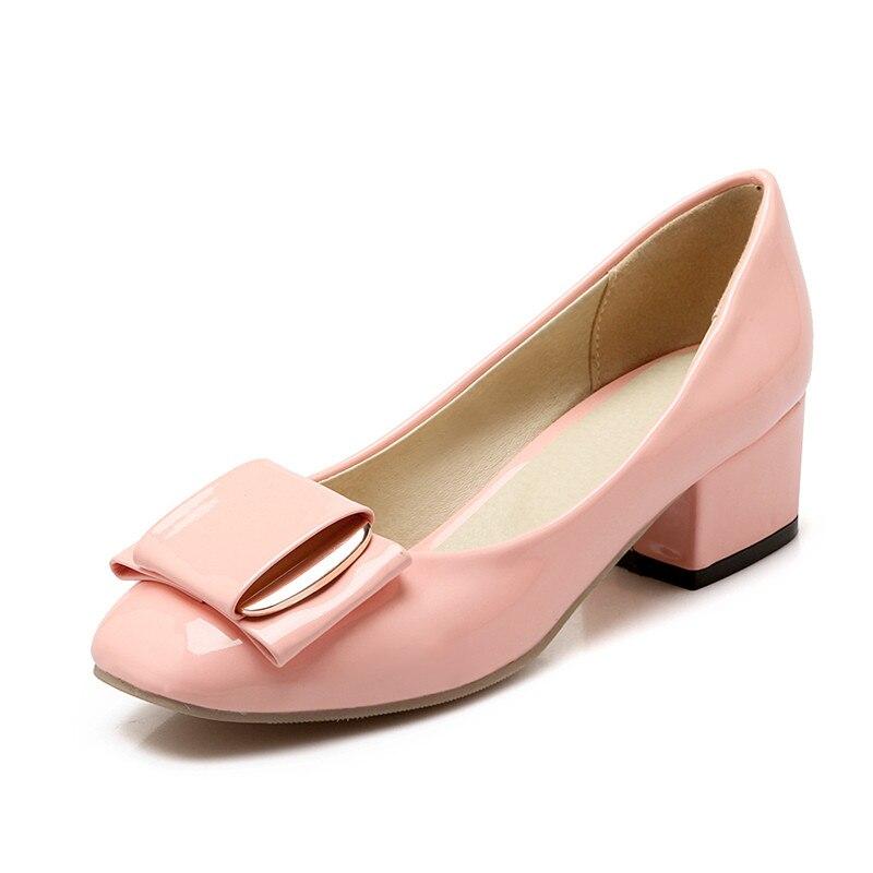 ef25ce673b Mulheres do dedo do pé quadrado sapatos de salto baixo meninas grande  tamanho do vestido sapatas das senhoras sapatos de casamento sapatos  confortáveis ...