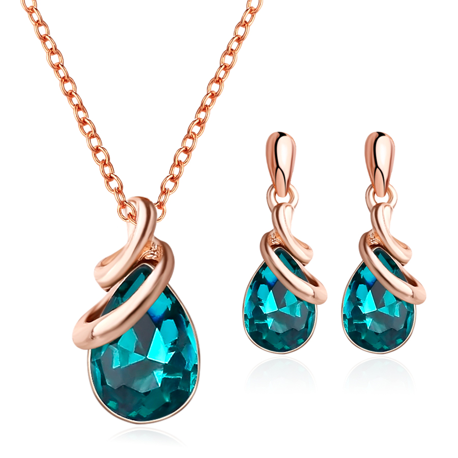 Luxury Exquisite Simple Style Water Drop Crystal Jewelry