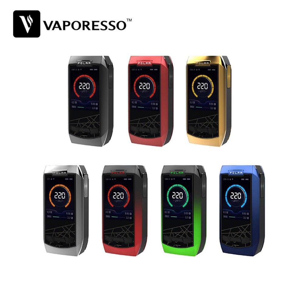D'origine Vaporesso Polaire 220 W TC Boîte MOD Parfait Prismatique Apparence avec 2 Pouce Affichage et 220 W Max Sortie E-cig Mod Aucune Batterie