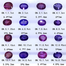 Natural non-heat-treated colored sapphire diamond face, paparacha sapphire, can be customized for you