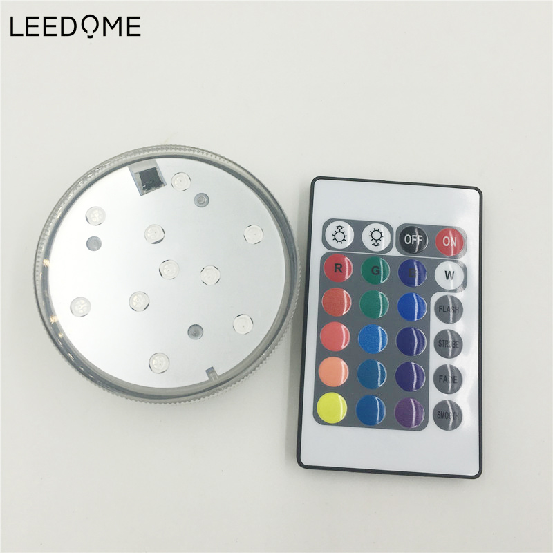 10 LED Multicolor Colors RGB Lamp Submersible Underwater Pool Light For Party Piscina RGB Colors 24Keys Remote Control Lighting 30cm color changing remote control party pool magic waterproof rgb night lighting lamp globe