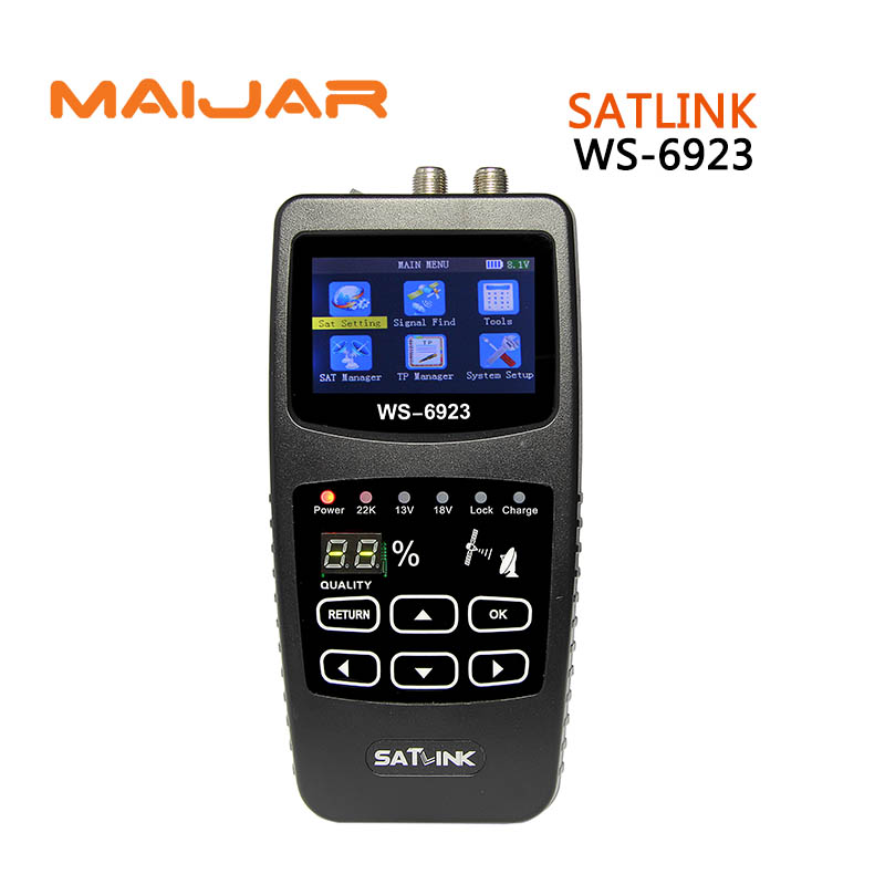 original Digital satellite finder meter ws6923 Digital terrestrial signal satlink  ws-6923 DVB-S2 compliant  2inch LCD screen anewkodi original satlink ws 6906 3 5 dvb s fta digital satellite meter satellite finder ws 6906 satlink ws6906