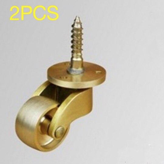 2PCS/LOT  Copper Casters Table Piano Wheels -Wheel diameter:25mm t2 red copper d150mm x 25mm 2pcs