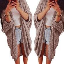 Womens Lady Casual Knit Sleeve Sweater Coat Cardigan Jacket Large Plus Size XXXL