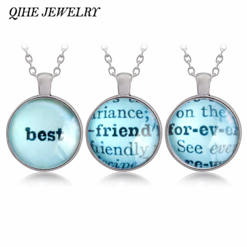 Qihe Jewelry Three Best Friends Forever Necklace Set Friendship Jewelry Dictionary Pages Best Friends Forever Friends Foreverfriendship Jewelry Aliexpress