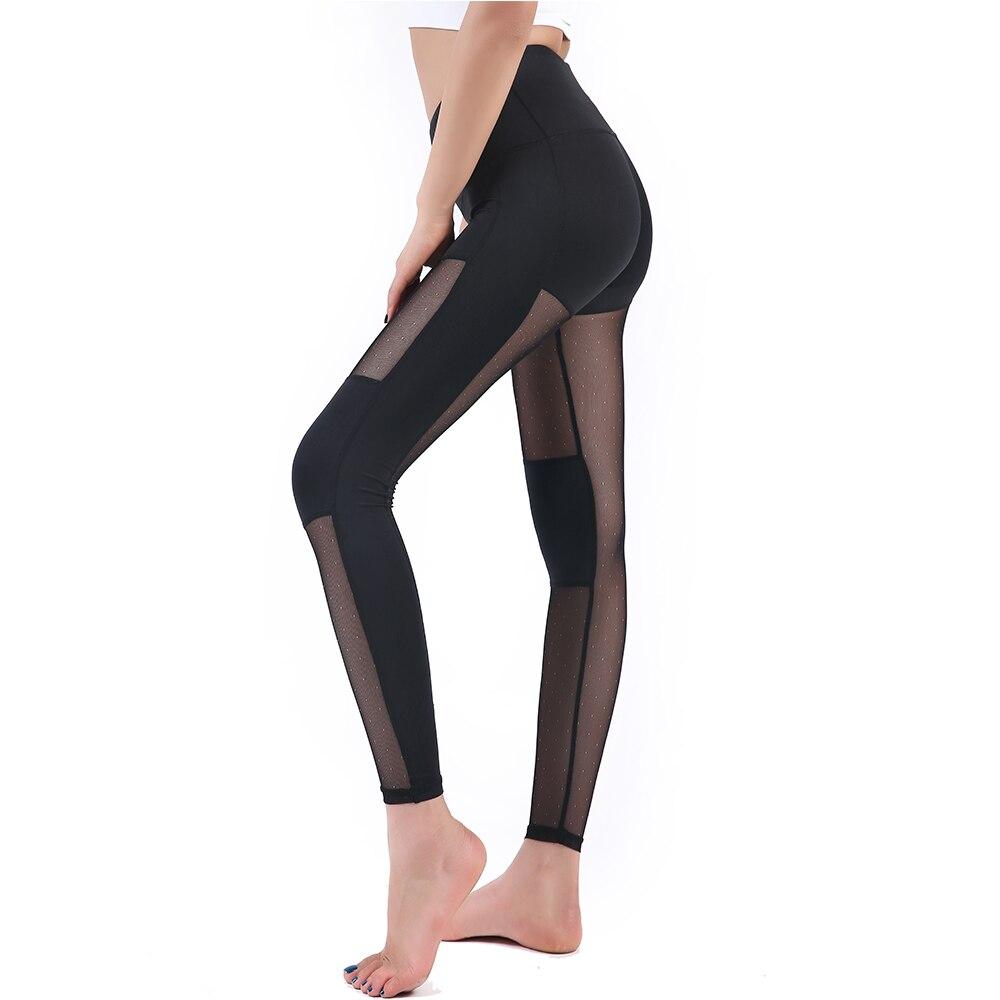Daha ucuz Çaplı Mesh Seksual Qadınlar Yoga Panst Fitness Leggings - İdman geyimləri və aksesuarları - Fotoqrafiya 5