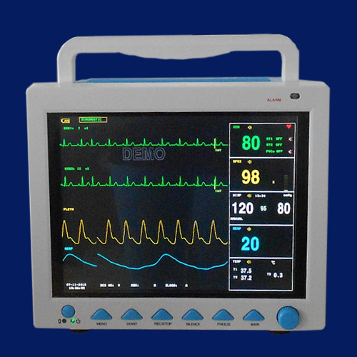 EMS Free Shipping12 1' ICU Patient Monitor, Multi Parameter Monitor with Printer NIBP SPO2 EG RESP Temp PR