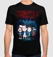 New 2018 Funny Short Sleeve Top O-Neck Mens Gravity Falls Combo T Shirt