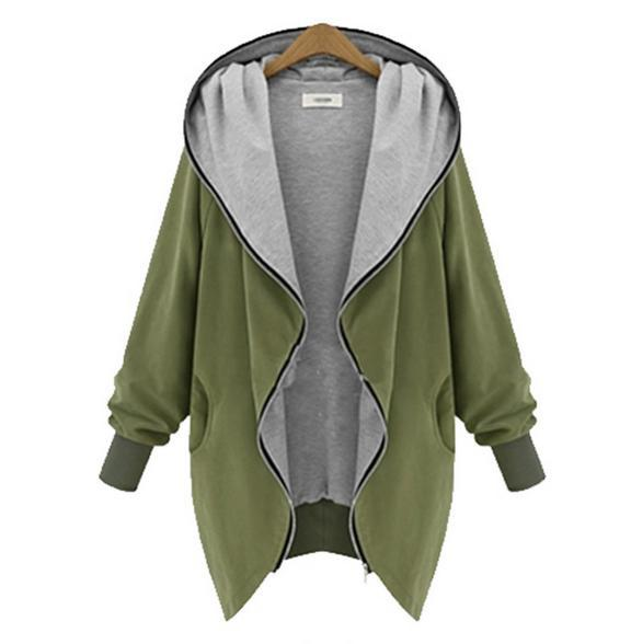 Women   basic     jacket   coat fashion   jacket   casual hooded Autumn large size women to increase women's coat was thin coat   jacket   898