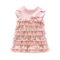 1 السنة عيد الرضع الفتيات petti الدانتيل الوردي اللباس مع ملخصات الأميرة اللباس