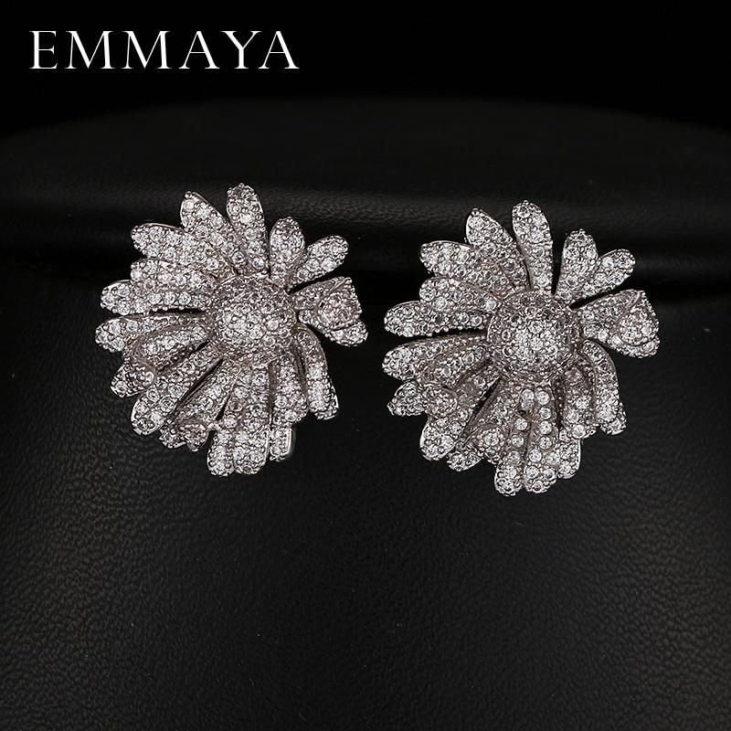 Emmaya AAA Austrian Crystal Paved Cute Geometric Zircon Earrings Brand New Design Fashion Jewelry for Lady