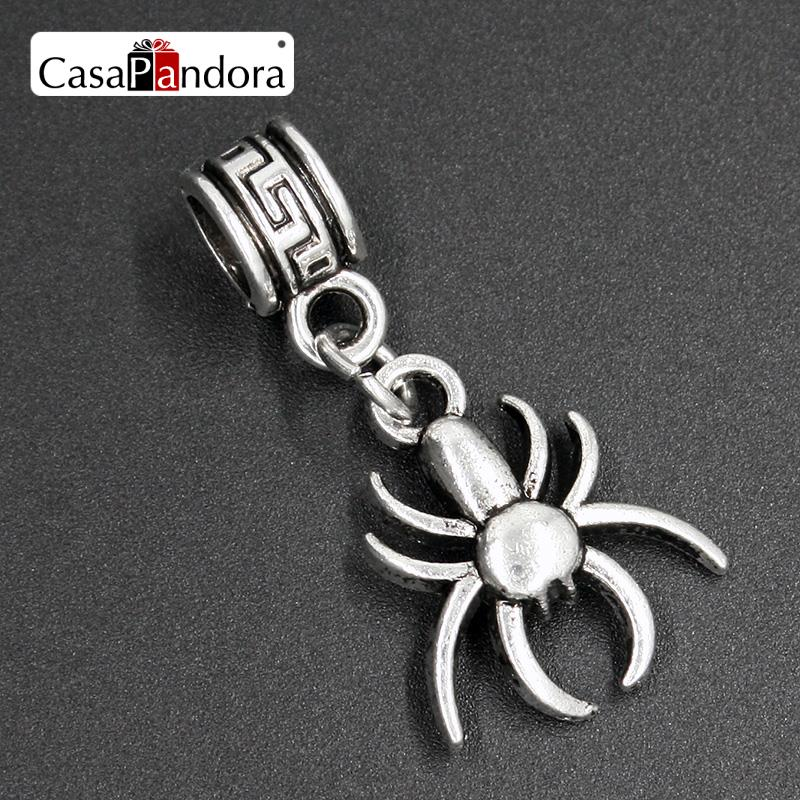 Frugal Casapandora Silver-colored Spider-shaped Araneid Spinner Pendant Fit Bracelet Charm Diy Bead Jewelry Making Pingente Berloque Jewelry & Accessories Jewelry Sets & More