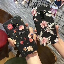 Ретро Красная роза цветок цветочные случаях для samsung Galaxy S7 S8 S9 плюс Note8 черный цветок растения листья для iphone 6 7 8 чехол матовый