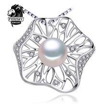 Multicolor hoja colgantes collar de Perlas naturales FENASY 2016 marca moda hoja necklacewomen accesorios Al Por Mayor