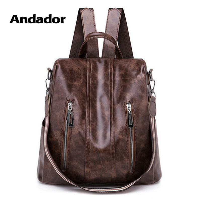 Anti-Theft Backpack Travel-Shoulder-Bag Larger-Capacity Female Vintage Women Casual New-Fashion